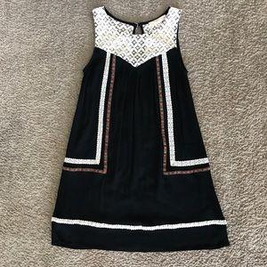 Anthropologie Dress Tunic Shirt Size XS Black